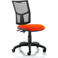 Product photograph showing Eclipse Ii Mesh Back Office Chair In Tabasco Red No Arms