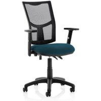 Product photograph showing Eclipse Ii Mesh Back Office Chair In Teal And Adjustable Arms