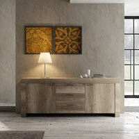 Ellie Wooden Sideboard In Canyon Oak With 2 Doors And 3 Drawers
