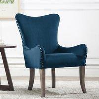 image-Ellis Fabric Bedroom Chair In Midnight Blue
