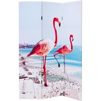 Product photograph showing Elvis Giant Flamingos Double Sided Room Divider