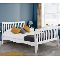 Emberly Wooden Single Bed In White