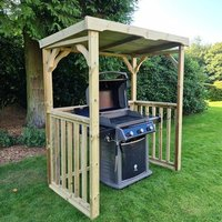 Product photograph showing Emicot Wooden Bbq Shelter