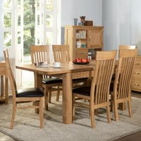 Empire Large Extending Dining Set With 6 Chairs In Oak