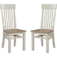 Product photograph showing Empire Stone Painted Dining Chair In Pair