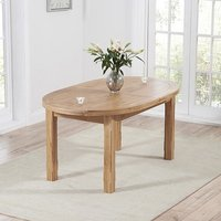 Product photograph showing Equuleus Oval Extending Wooden Dining Table In Oak