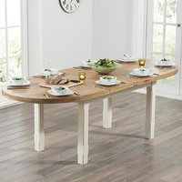 Equuleus Extending Dining Table In Oval Oak And Cream