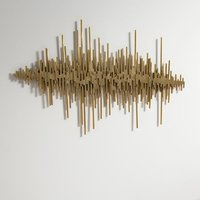 Product photograph showing Ernest Contemporary Wall Art In Gold Finish
