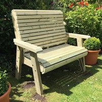 Product photograph showing Erog Wooden Outdoor 2 Seater Bench