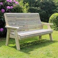 Product photograph showing Erog Wooden Outdoor 3 Seater Bench