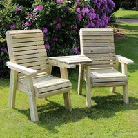 Product photograph showing Erog Wooden Outdoor Chairs Seating Set