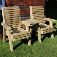 Product photograph showing Erog Wooden Straight Outdoor Chairs Seating Set