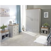 Ervin Wooden 4Pc Bedroom Furniture Set In Grey