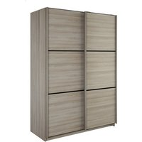 Product photograph showing Estelle Wooden Sliding Wardrobe In Shannon Oak With 2 Doors