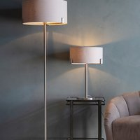 Product photograph showing Evelyn Table Lamp With Dusty Pink Shade