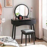 Fairburn Wooden Dressing Table Set In Black