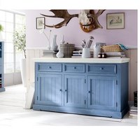 Falcon Sideboard In Pine Wood Blue And White