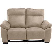 Product photograph showing Farrow Fabric Electric Recliner 2 Seater Sofa In Natural
