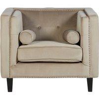 Product photograph showing Felisen Velvet Upholstered Armchair In Mink