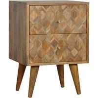 Felix Wooden Bedside Cabinet In Oak Ish With 2 Drawers