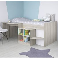 Product photograph showing Feltner Contemporary Cabin Bed In Elm