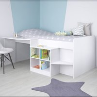 Product photograph showing Feltner Contemporary Cabin Bed In White