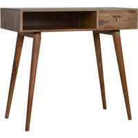 Product photograph showing Flee Wooden Mixed Pattern Study Desk In Oak Ish