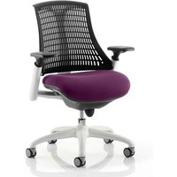 Product photograph showing Flex Task White Frame Black Back Office Chair In Tansy Purple