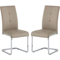 Product photograph showing Florence Stone Pu Leather Dining Chair In A Pair
