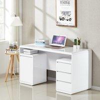 Florentine Computer Desk In White High Gloss With Storage