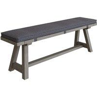 Floyd Wooden 160cm Dining Bench With Cushion In Grey Oak