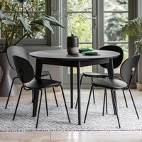 Forden Wooden Round Dining Table In Black