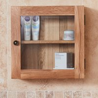 Product photograph showing Fornatic Bathroom 1 Door Wall Storage Cabinet In Mobel Oak