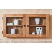 Product photograph showing Fornatic Bathroom 2 Doors Wall Storage Cabinet In Mobel Oak
