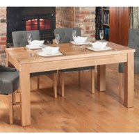 Product photograph showing Fornatic Extending Wooden Dining Table In Mobel Oak