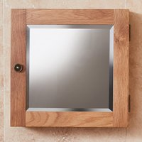 Product photograph showing Fornatic Mobel Oak Bathroom Mirrored 1 Door Wall Storage Unit