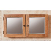 Product photograph showing Fornatic Mobel Oak Bathroom Mirrored 2 Door Wall Storage Unit