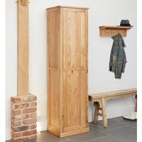 Product photograph showing Fornatic Tall Wooden Shoe Storage Cabinet In Mobel Oak