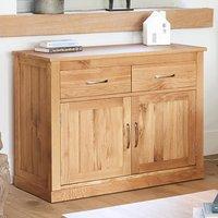 Fornatic Wooden Sideboard In Mobel Oak With 2 Doors 2 Drawers