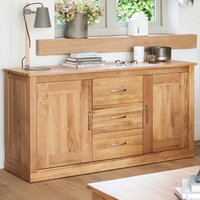 Fornatic Wooden Sideboard In Mobel Oak With 2 Doors 3 Drawers