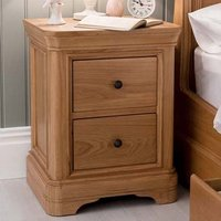Product photograph showing Frank Wooden Bedside Cabinet In Natural Oak Finish