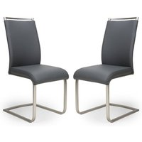 Franklin Grey Velvet Fabric Dining Chair In A Pair