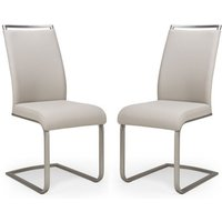 Franklin Taupe Velvet Fabric Dining Chair In A Pair