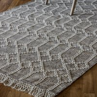 Product photograph showing Frescot Cotton Fabric Rug In Beige