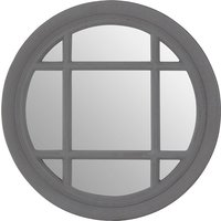 Product photograph showing Fresot Round Window Designed Wall Mirror In Grey