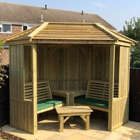 Product photograph showing Fresta Wooden Occaisonal Seating Garden Room With Decking