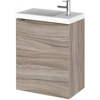 Product photograph showing Fuji 40cm Wall Hung Vanity Unit With Basin In Driftwood