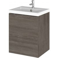 Product photograph showing Fuji 40cm Wall Vanity With Polymarble Basin In Brown Grey Avola