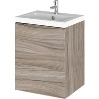 Product photograph showing Fuji 40cm Wall Vanity With Polymarble Basin In Driftwood