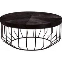 Product photograph showing Furud Townhouse Round Coffee Table In Black